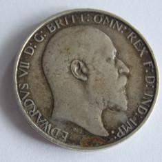 Moneda de argint 1florin/2 shillingi -1909 Anglia 1111, Europa