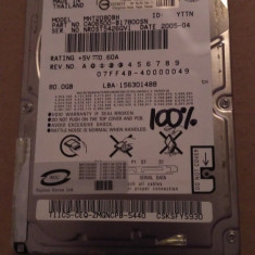 Hard Disk / HDD SATA FUJITSU 80GB 100% HEALTH Laptop - HDD laptop Fujitsu, 41-80 GB, Rotatii: 5400