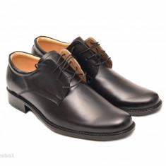 Pantofi negri barbati piele naturala casual-eleganti cu siret cod P70 - Pantofi barbat, Marime: 39, 40, 41, 42, 43, 44, 45, Culoare: Alb, Bleumarin, Maro, Negru