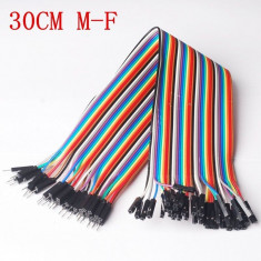 10 cabluri ( 30cm ) dupont MAMA-TATA ( male-female ) Arduino cablu breadboard
