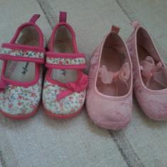Doua perechi de balerini pentru fetite H&M si De Fonseca marimea 21/22 - Balerini copii H&m, Culoare: Din imagine, Fete, Textil