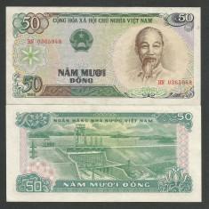 VIETNAM 50 DONG 1985 a UNC [1] P-96a, aproape necirculata - bancnota asia