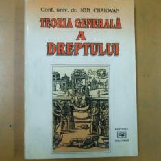 Teoria generala a dreptului Ion Craiovan Bucuresti 1997 - Carte Teoria dreptului