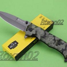 CUTIT. BRICEAG BUCK Knife. 21 cm. Blocaj lama. Full METAL Excelent