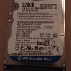Hard Disk / HDD SATA WESTERN DIGITAL SCORPIO BLUE 320GB 100% HEALTH Laptop - HDD laptop Western Digital, 300-499 GB, Rotatii: 5400