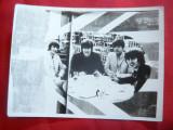 Fotografie a formatiei Beatles , 12x9 cm