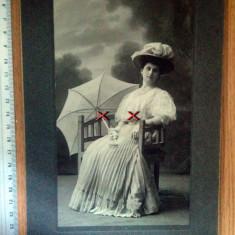 LOT 2 FOTOGRAFII VECHI CARTONATE DIM.MARE - FOTO JULIETTA  BUCURESCI , ANII 1900