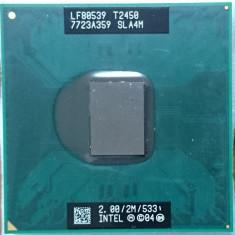 Procesor laptop Intel T2450 SLA4M 2 GHz / 2 M cahe / FSB 533 socket M, Intel, 1500- 2000 MHz, Numar nuclee: 2, M