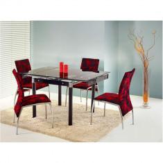 Set masa HM Kent negru plus 4 scaune K119 - Set mobila living