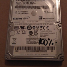 Hard Disk / HDD SATA SAMSUNG 1TB 100% HEALTH Laptop - HDD laptop Samsung, Peste 1 TB, Rotatii: 5400