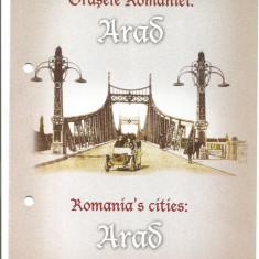 Pliant- Orasele Romaniei Arad-2014
