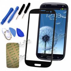Sticla Display Fata Samsung Galaxy S3 MINI i8190 NEGRU + scule si folie ecran - Display LCD