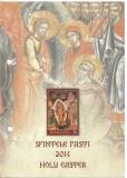 Pliant filatelic - SFINTELE PASTI-2014