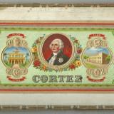 RECLAMA (?) tigari-Capac cutie din placaj-cca 1900