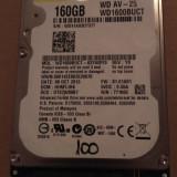 Hard Disk / HDD SATA WESTERN DIGITAL 160GB 100% HEALTH Laptop - HDD laptop Western Digital, 100-199 GB, Rotatii: 5400