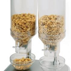 Dispenser cereale dublu, 2x4.5 litri