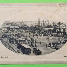 Galati - Portul - Carte Postala Muntenia 1904-1918, Circulata, Fotografie