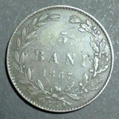 5 bani 1867 1 Watt & Co - Moneda Romania