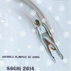 Pliant filatelic -Jocurile Olimpice de iarna SOCHI-2014