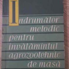 Indrumator Metodic Pentru Invatamantul Agrozootehnic De Masa - P. Stanculescu, 393614 - Carti Agronomie