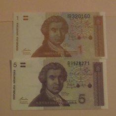 Lot bancnote Croatia, Europa