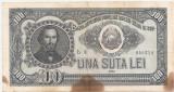 ROMANIA 100 LEI 1952 U