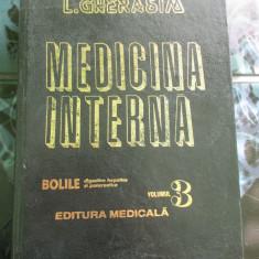 Medicina interna - volumul 3 - Gherasim - Carte Gastroenterologie