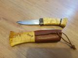 Cutit teaca lemn + piele  - 129 lei