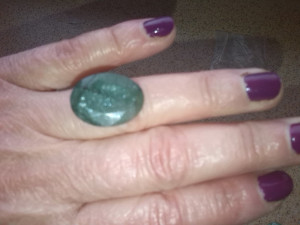 smarald verde padure semitransparent pentru pandant sau inel