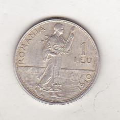 Bnk mnd Romania 1 leu 1910 argint, Hamburg - Moneda Romania