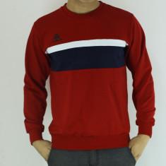 Bluza barbati - rosu cu bleumarin - sport - slim fit - fashion, Marime: L, XXL
