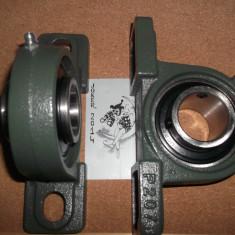 Lagar/lagare 35mm P207 cu rulmenti si gresor pentru leagane, abric, etc