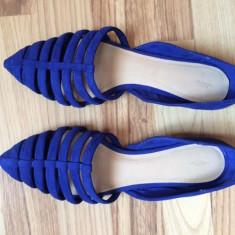 Balerini ZARA - Balerini dama, Culoare: Albastru, Marime: 38