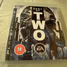 Joc Army of Two, PS3, original, alte sute de jocuri! - Jocuri PS3 Ea Games, Shooting, 18+, Single player