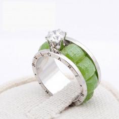 Inel Diamond Bvlgari Emerald 18Ktgp - Inel placate cu aur