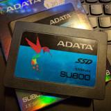 SSD 256GB ADATA SU800 (NOU) testat read/write 560/520MB/s, 3D NAND Flash, SATA 3