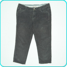 Pantaloni ¾, catifea, talia reglabila, elastan, ZARA → fete | 13—14 ani | 164 cm, Gri