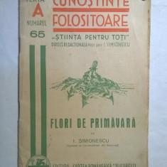 I. Simionescu - Flori de primavara - Carte Biologie