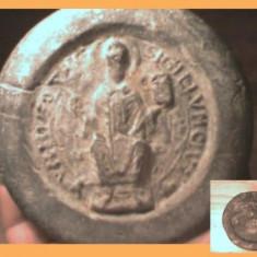 RARITATE. SIGILIU PLUMB REMARCABIL SEC 17 - 18 - Arheologie