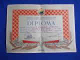 DIPLOMA * SPARTACHIADA SAH - COMITETUL CULTURA FIZICA _REGIUNEA PLOESTI - 1954
