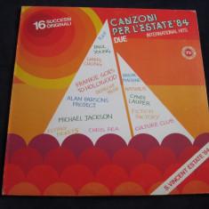 Various - Canzoni Per L'estate '84 Due _ vinyl, LP, Italia _ hituri anii '80 - Muzica Pop Altele, VINIL