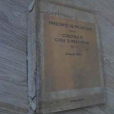 Prescriptii De Proiectare Pentru Constructii Civile Si Indust - Necunoscut, 393725 - Carti Constructii