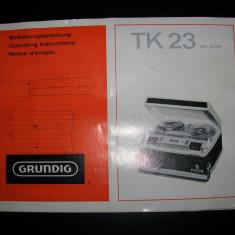 Manual magnetofon grundig TK 23