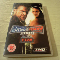 WWE Smack Down vs Raw 2009, PSP, original, alte sute de jocuri!, Sporturi, 3+, Single player, Sega