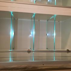 Vand vitrina living Mobexpert MDF alb