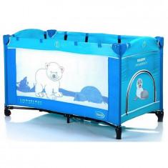 Patut pliabil pentru copii 4Baby Vegas Antarctica - Patut pliant bebelusi