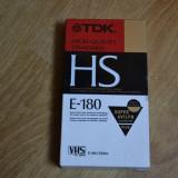 Casete video VHS TDK 180 min -sigilate-japan