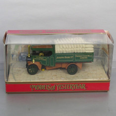 Camion Foden Steam Wagon 1922 Joseph Rank, Matchbox Yesteryear - Macheta auto