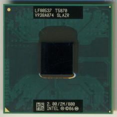 Procesor Laptop Intel C2D T5870 2x 2GHZ/2MB/800 Fsb SLAZR Skt. P, Intel Core 2 Duo, 2000-2500 Mhz, Numar nuclee: 2, P