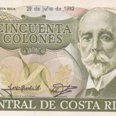 COSTA RICA 50 colones 29 iulie 1992 XF+++!!!